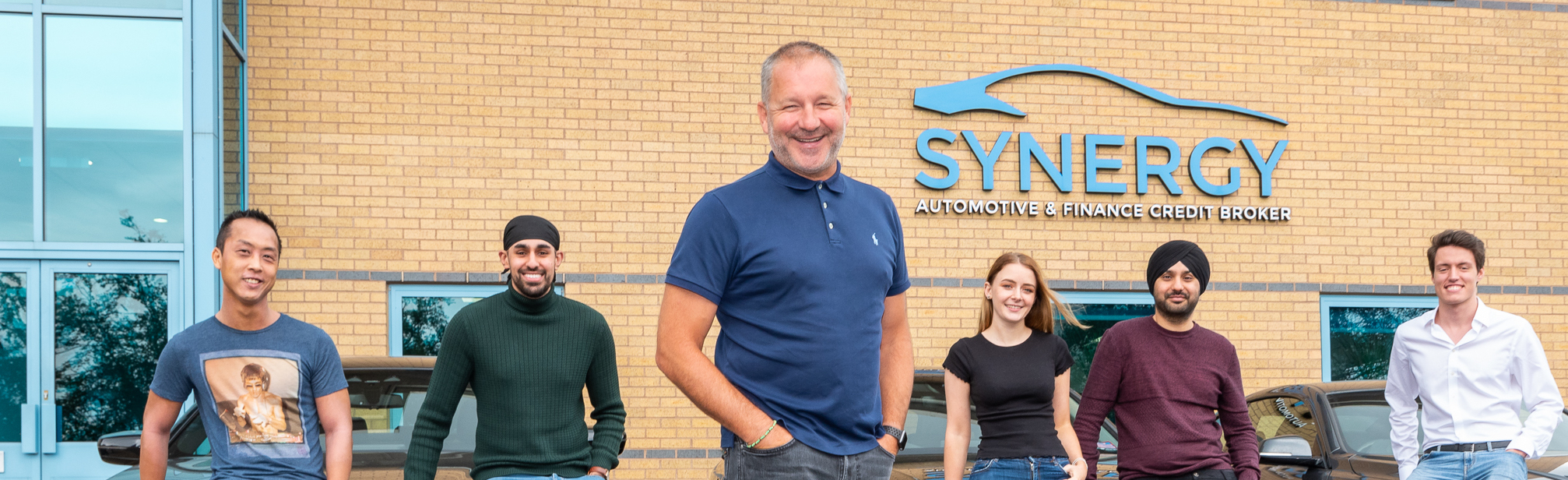 Paul Parkinson with new Synergy recruits