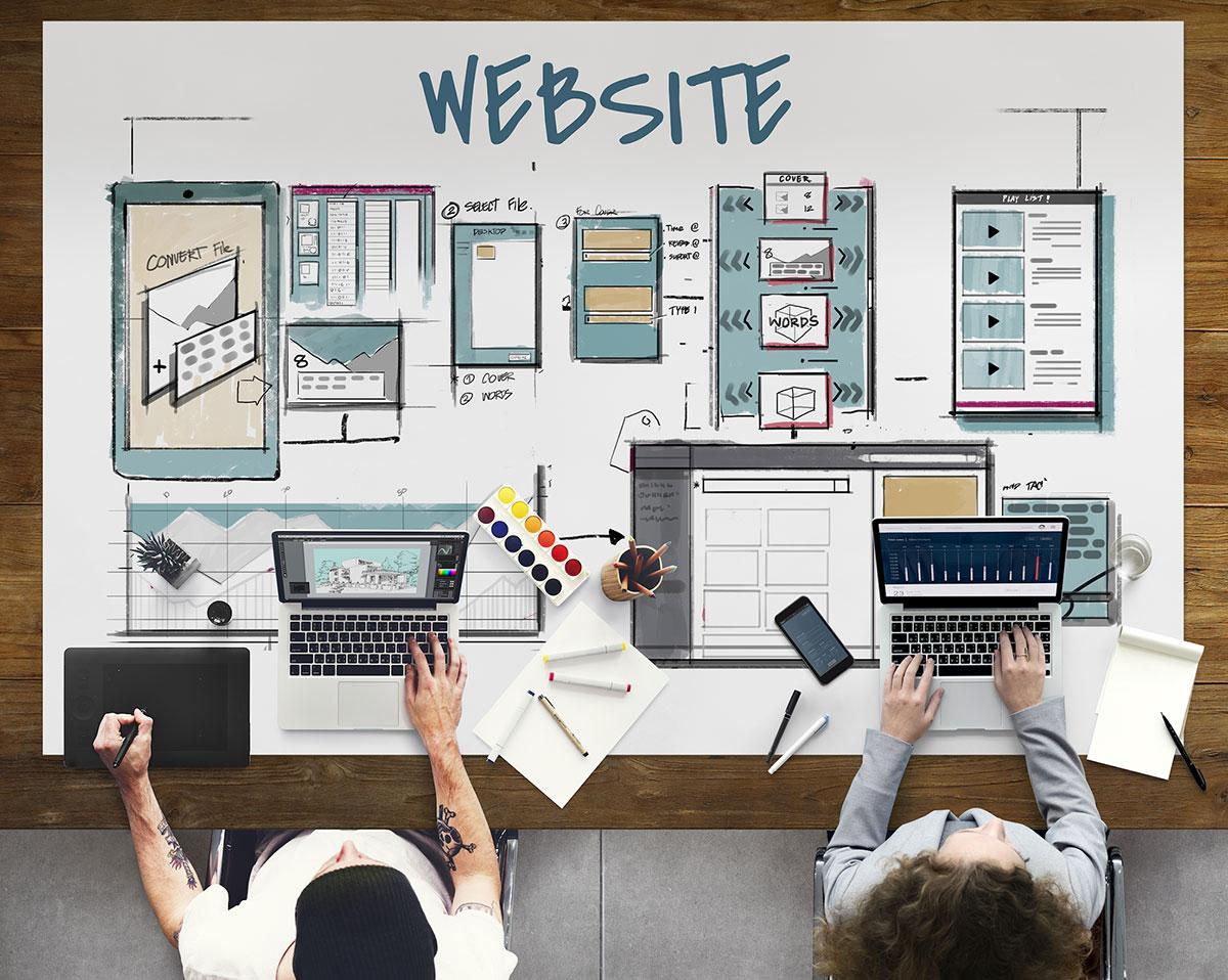 Broker website providers designing web pages2