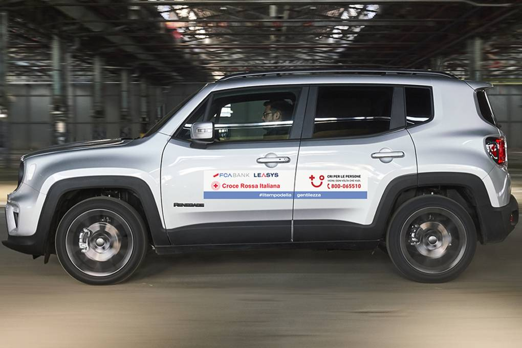 Leasys Italian Red Cross support Jeep