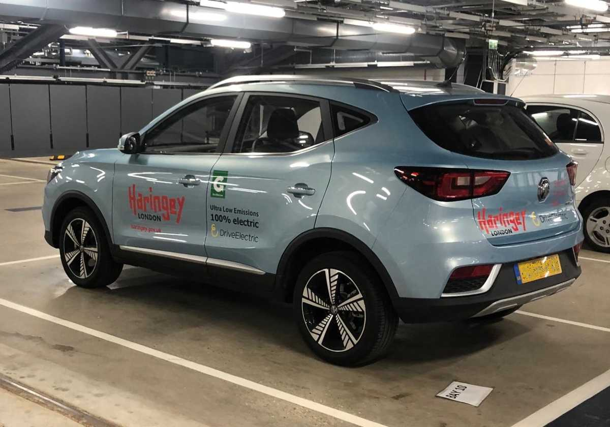 MG ZS EV at Haringey supplied by DriveElectric