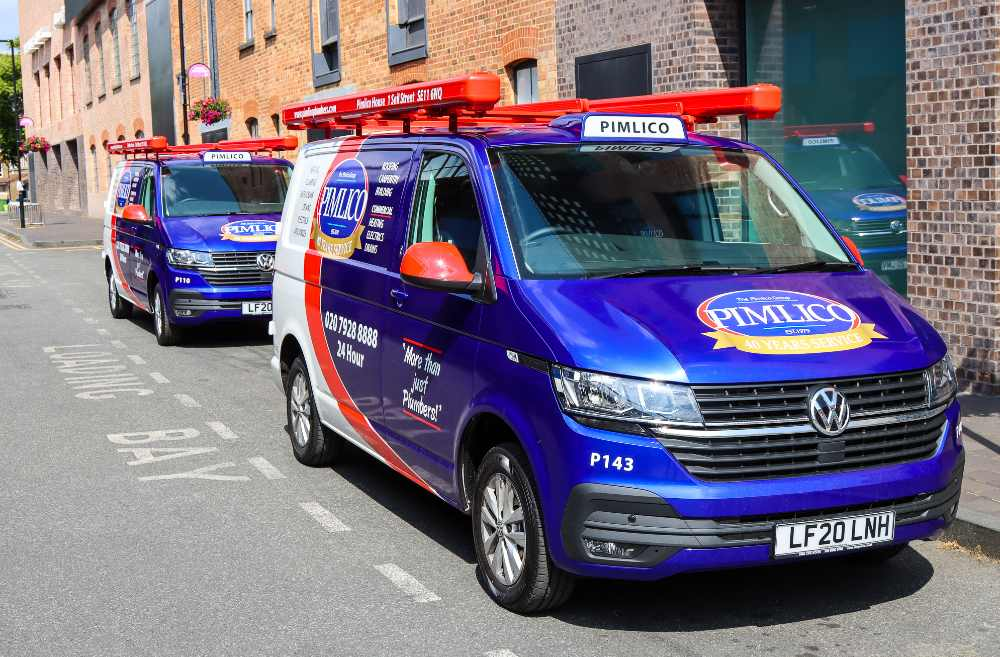 Oe of the new 100 Pimlico Plumbers VW Transporters