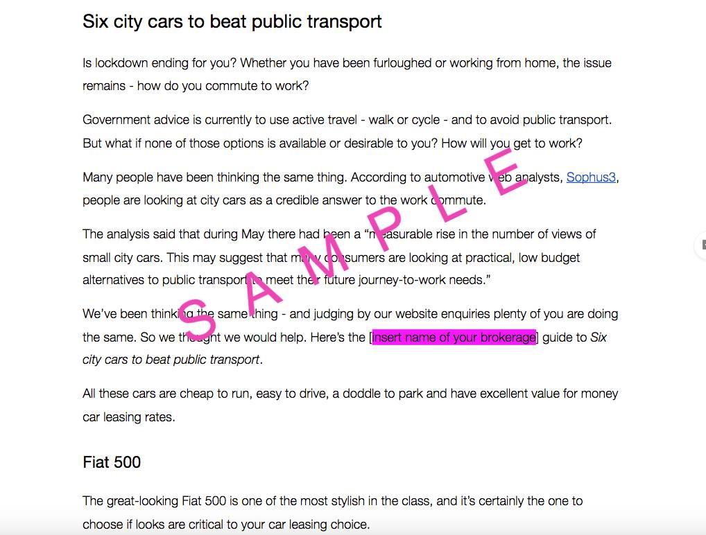 Six city cars sample copy