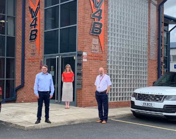 Jason Reynolds takes over as MD of V4B (pictured left)