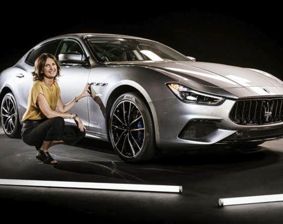 Rossella Guasco, responsible for exterior and interior trim, with new Maserati Ghibli Hybrid