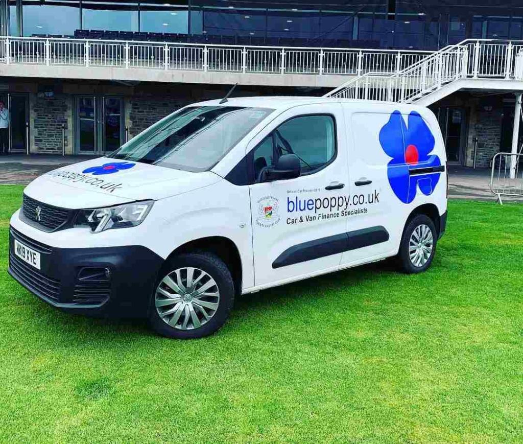 Bluepoppy van at Gloucestershire CC