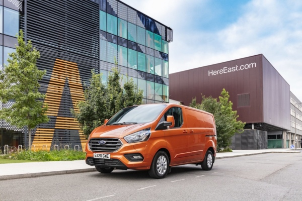 Ford Transit Custom PHEV at Fords HereEast location