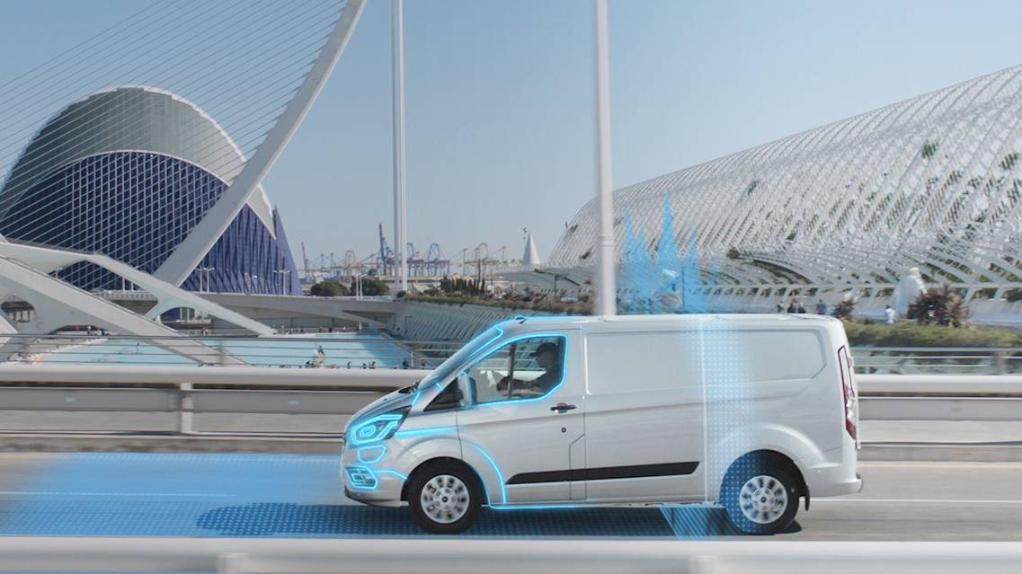 Ford Transit Custom PHEV entering geofence
