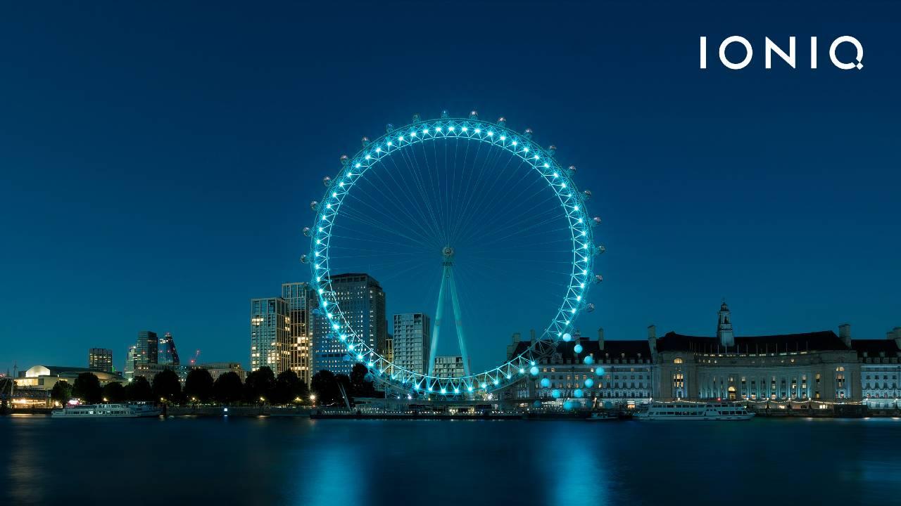 Giant Q on the London Eye