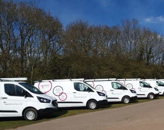 Together Housing new fleet of vans from Lex Autolease