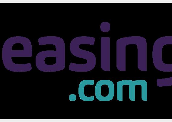 leasing logo purple teal border