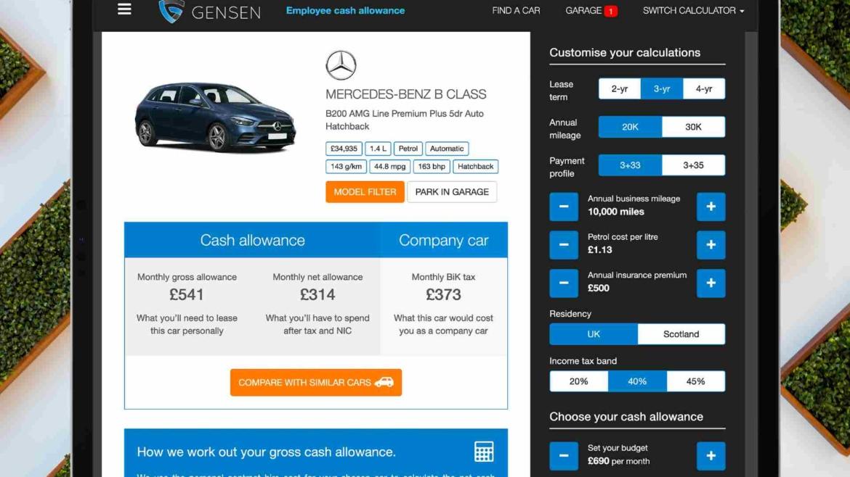 2. Cash allowance Employee Mercedes B Class Oct 20 1