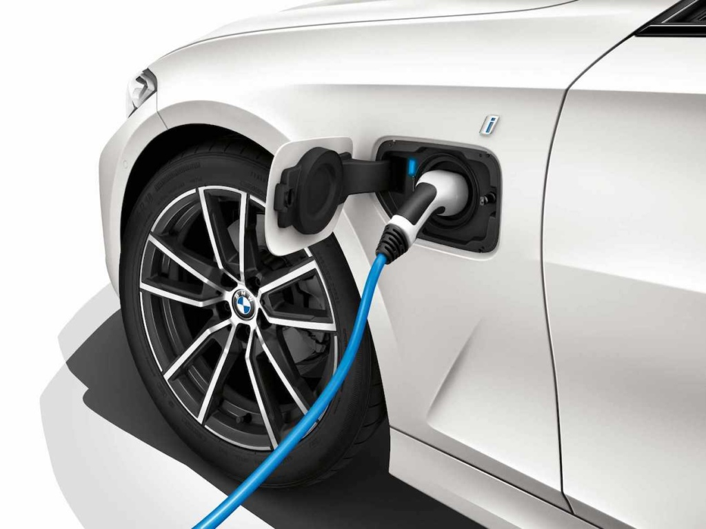 BMW with charger plugged in