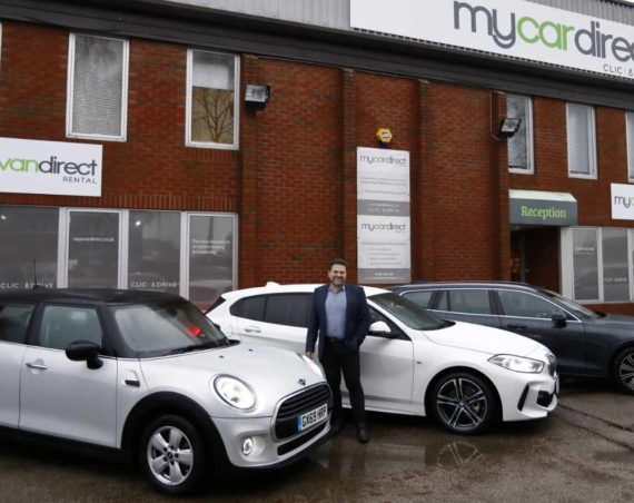 Duncan Chumley of Mycardirect outside the companys new office