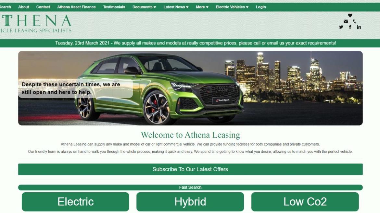athena website by vls dna