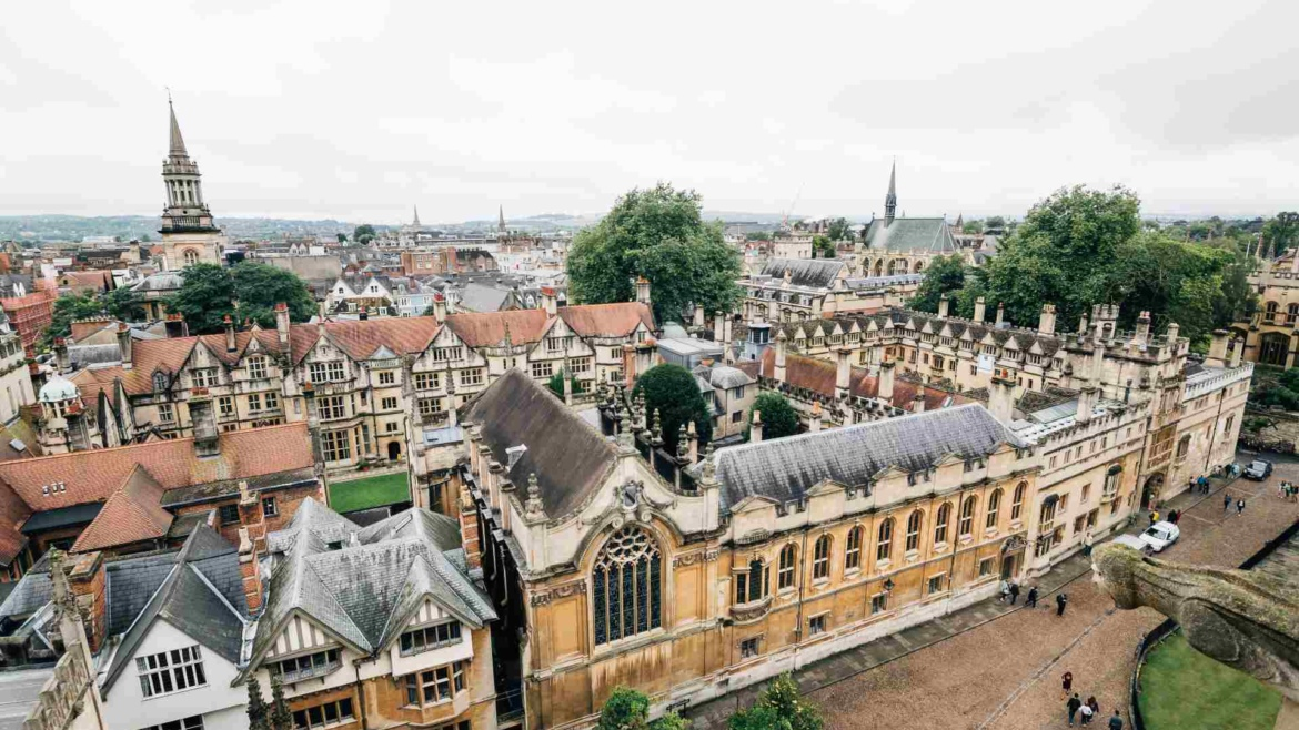 High level view of Oxford where a new EV charging pilot is taking place
