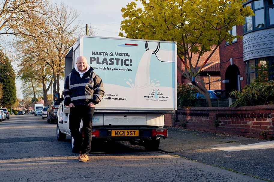 the Modern Milkman uses van branding to help market its message