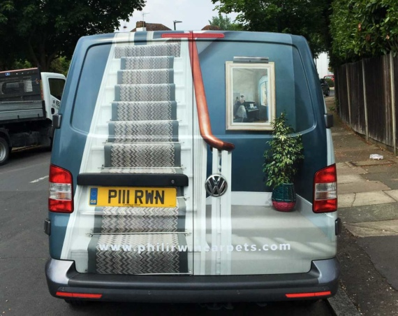 van branding for a carpet fitter